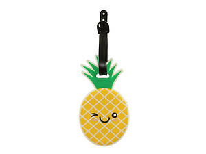 Winking Pineapple ~ Travel Suitcase ID Luggage Tag and Suitcase Label