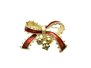 Jingle Bells Pin & Brooch in Gold Tone