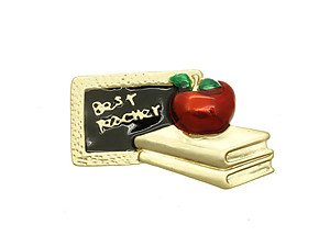 Best Teacher Pin & Brooch