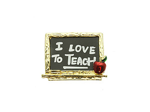 I Love To Teach Pin & Brooch