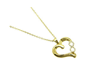 Goldtone Infinity Heart Link Necklace