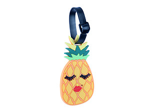 Yellow Lady Pineapple ~ Travel Suitcase ID Luggage Tag and Suitcase Label