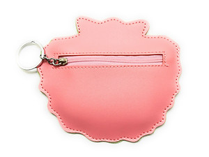 Mermaid Seashell Faux Leather Zip Closure Coin Pouch Keychain