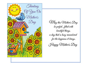 Filled With Beautiful Things ~ Mother's Day Card
