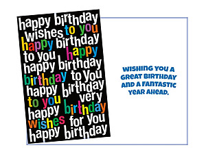 A Fantastic Year Ahead ~ Happy Birthday Card