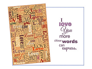 More Than Words Can Express ~ Expressions of LOVE Greeting Card