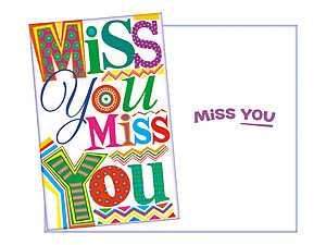 Miss You ~ Thinking Of You Greeting Card