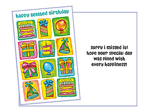 Sorry I Missed It ~ Belated Birthday Card