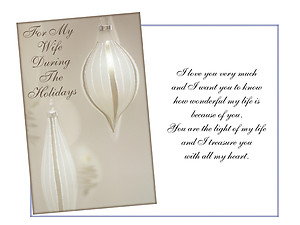 Light Of My Life ~ Holiday Greeting Card
