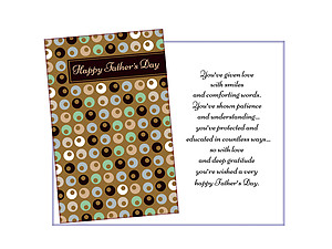 Protected and Educated ~ Father's Day Card