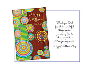 My Friend & My Inspiration ~ Father's Day Card