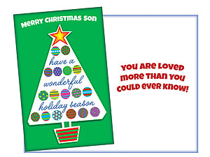 Merry Christmas Son ~ Holiday Greeting Card