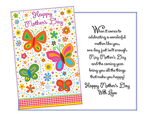 Celebrating A Wonderful Mother ~ Mother's Day Card