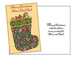 Wonderful Mom And Dad ~ Holiday Greeting Card
