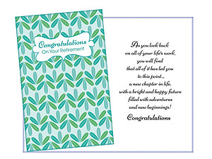 As You Look Back ~ Retirement Card