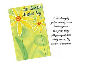 Putting Your Family First ~ Mother's Day Card