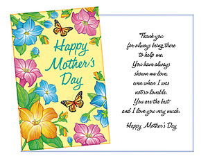 Always Being There ~ Mother's Day Card