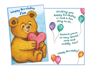 Cute and Cuddly ~ Happy Birthday Card