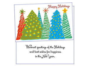 Best Wishes For Happiness ~ 6 Pack Holiday Greeting Cards