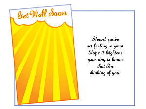 Brightens You Day ~ Get Well Card