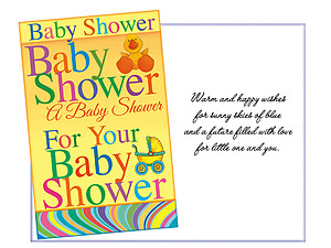 Warm and Happy Wishes ~ Baby Shower Card