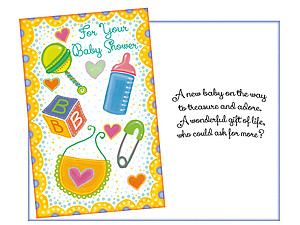 Treasure and Adore ~ Baby Shower Card