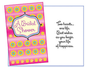 As You Begin Your Life ~ Bridal Shower Card