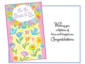 A Lifetime Of Love ~ Bridal Shower Card