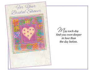 Deeper in Love ~ Bridal Shower Card