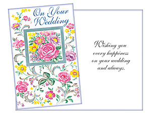Every Happiness ~ Wedding Day Card