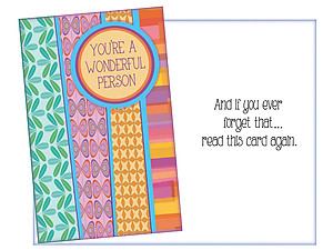 A Wonderful Person ~ Thinking Of You Card