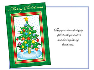 Filled With Good Cheer ~ 6 Pack Holiday Greeting Cards