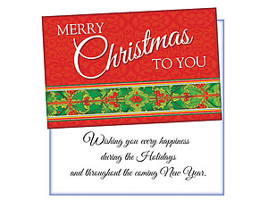 Wishing You Every Happiness ~ 6 Pack Holiday Greeting Cards