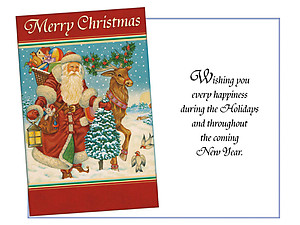 Every Happiness During The Holidays ~ 6 Pack Holiday Greeting Cards