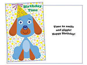Time To Smile ~ Happy Birthday Card