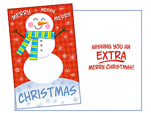 Extra Merry Christmas ~ 6 Pack Holiday Greeting Cards
