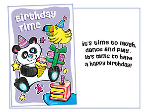 It's Time To Laugh ~ Happy Birthday Card