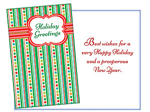 Holiday Greetings ~ 6 Pack Holiday Greeting Cards