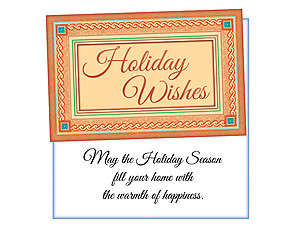 Warmth Of Happiness  ~ 6 Pack Holiday Greeting Cards