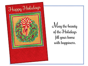 The Beauty Of The Holidays ~ 6 Pack Holiday Greeting Cards