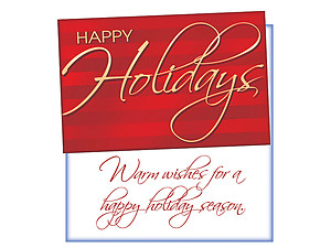A Happy Holiday Season  ~ 6 Pack Holiday Greeting Cards