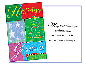 All The Things That Mean The Most  ~ 6 Pack Holiday Greeting Cards