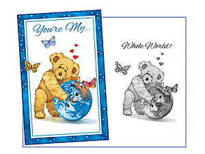 My Whole World ~ Expressions of LOVE Greeting Card