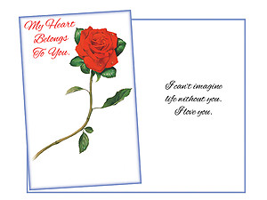 Life Without You ~ Expressions of LOVE Greeting Card