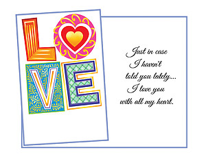 With All My Heart ~ Expressions of LOVE Greeting Card