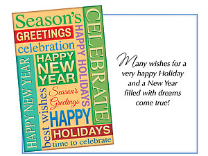 A New Year Filled With Dreams ~ 6 Pack Holiday Greeting Cards