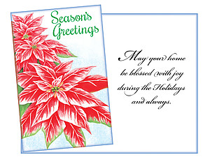 May Your Home Be Blessed ~ 6 Pack Holiday Greeting Cards