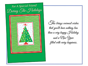 For A Special Friend ~ 6 Pack Holiday Greeting Cards