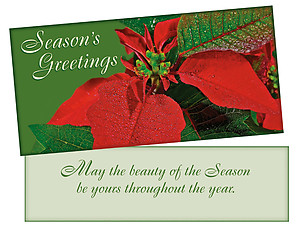 Beauty Of The Season ~ Christmas Holiday Gift Card or Money Holder