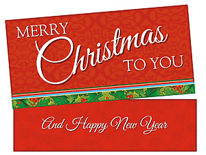Merry Christmas To You ~ Christmas Holiday Gift Card or Money Holder